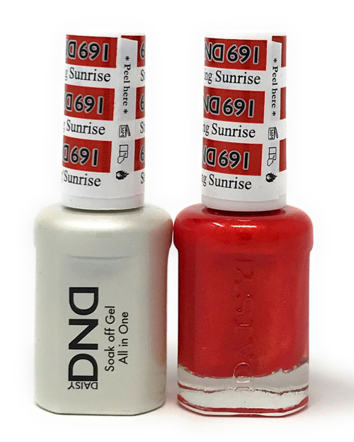 DND SOAK OFF GEL POLISH DUO DIVA COLLECTION | STRIKING SUNRISE, 691 |