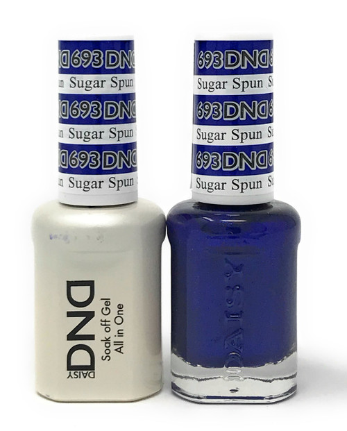 DND SOAK OFF GEL POLISH DUO DIVA COLLECTION | SUGAR SPUN, 693 |