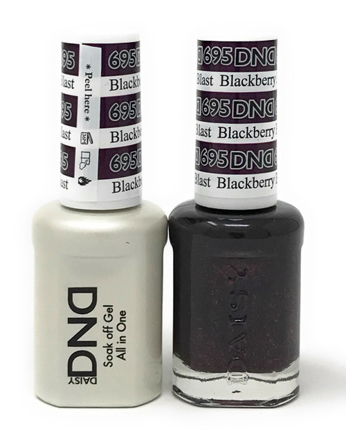 DND SOAK OFF GEL POLISH DUO DIVA COLLECTION | BLACKBERRY BLAST, 695 |