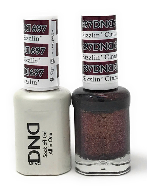 DND SOAK OFF GEL POLISH DUO DIVA COLLECTION | SIZZLIN CINNAMON, 697 |
