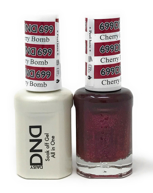 DND SOAK OFF GEL POLISH DUO DIVA COLLECTION | CHERRY BOMB, 699 |