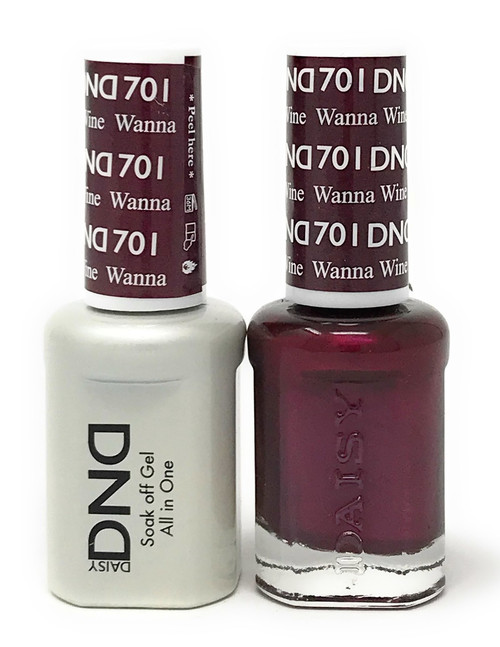 DND SOAK OFF GEL POLISH DUO DIVA COLLECTION | WANNA WINE, 701 |