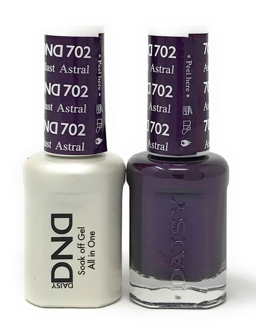 DND SOAK OFF GEL POLISH DUO DIVA COLLECTION | ASTRAL BLAST, 702 |