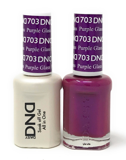 DND SOAK OFF GEL POLISH DUO DIVA COLLECTION | PURPLE GLASS, 703 |