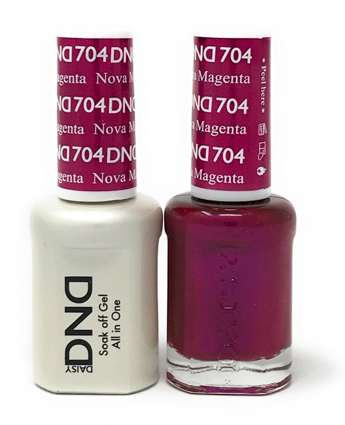 DND SOAK OFF GEL POLISH DUO DIVA COLLECTION | NOVA MAGENTA, 704 |