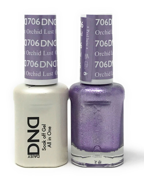 DND SOAK OFF GEL POLISH DUO DIVA COLLECTION | ORCHID LUST, 706 |