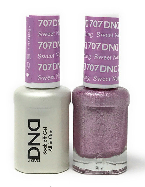 DND SOAK OFF GEL POLISH DUO DIVA COLLECTION | SWEET NOTHING, 707 |