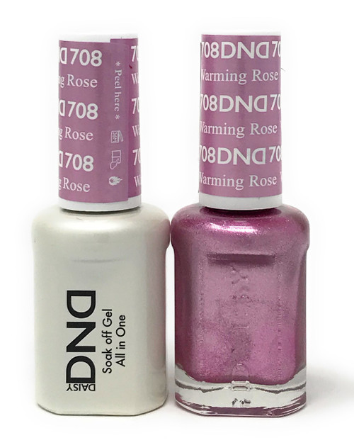 DND SOAK OFF GEL POLISH DUO DIVA COLLECTION | WARMING ROSE, 708 |