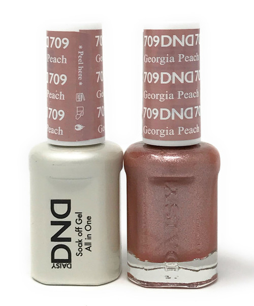DND SOAK OFF GEL POLISH DUO DIVA COLLECTION | GEORGIA PEACH, 709 |