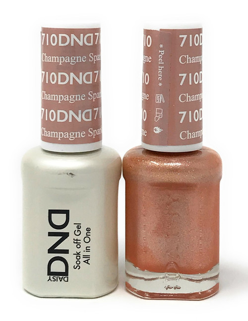 DND SOAK OFF GEL POLISH DUO DIVA COLLECTION | CHAMPAGNE SPARKLES, 710 |