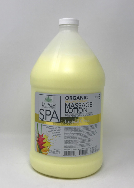 Organic Healing Therapy Massage Lotion | 1 Gal | Tropical Citrus