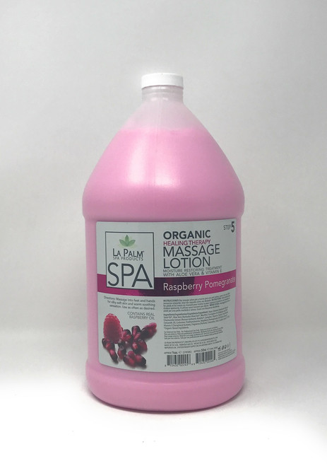 Organic Healing Therapy Massage Lotion | 1 Gal | Raspberry Pomegranate