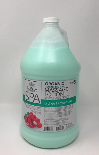 Organic Healing Therapy Massage Lotion | 1 Gal | Lychee Lemongrass