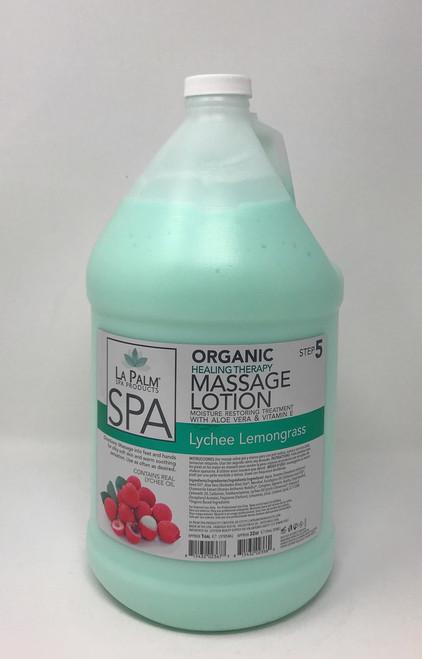 Organic Healing Therapy Massage Lotion   1 Gal   Lychee Lemongrass