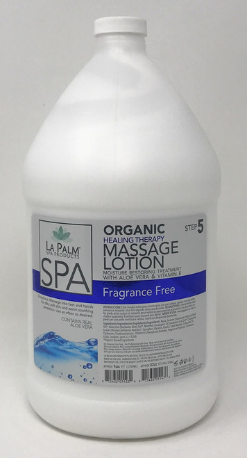 Organic Healing Therapy Massage Lotion | 1 Gal | Fragrance Free