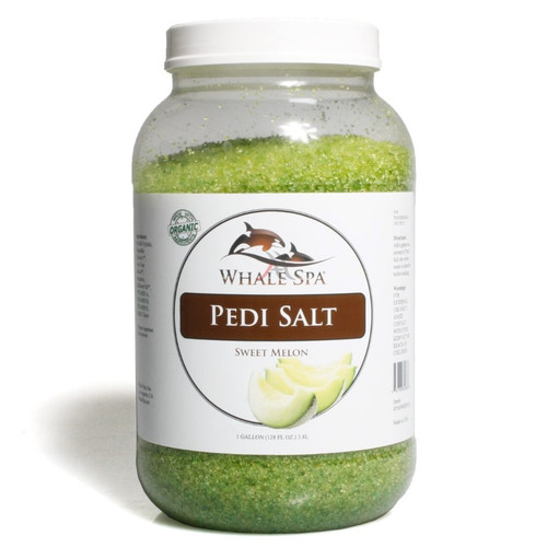 Whale SPA   Pedi Salt   Sweet Melon   1 Gal