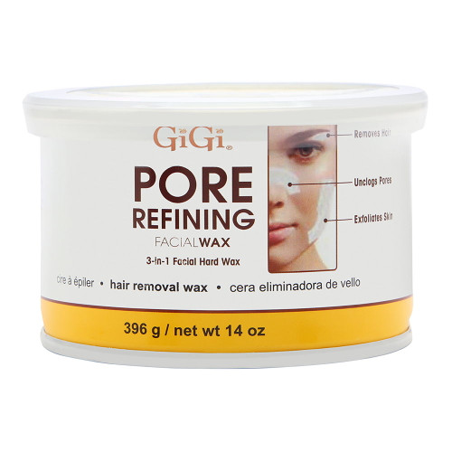 GiGi Pore Refining Wax | 3 in 1 Facial Hard Wax | 14 oz