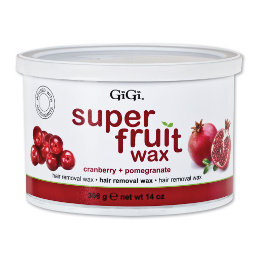 GiGi Super Fruit Wax | Cranberry + Pomegranate | Hair Removal Wax | 14 oz