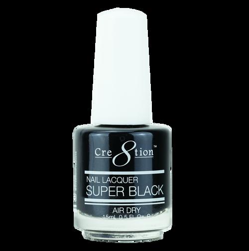 Cre8tion Nail Lacquer SUPER BLACK