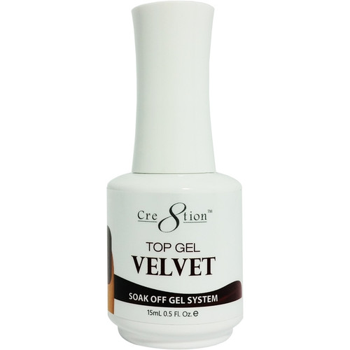 Cre8tion Soak-off TOP GEL VELVET