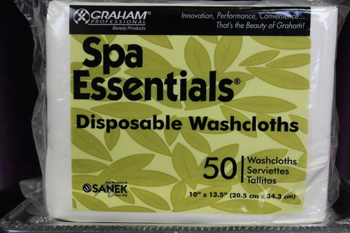 Spa Essential | Disposable Washcloths | 50 Count