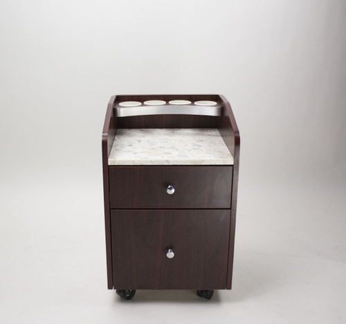 Wood Pedi Cart