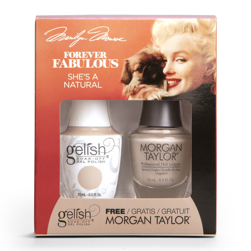 Gelish Duo | Marilyn Monroe - Forever Fabulous Collection 2018 | She's A Natural