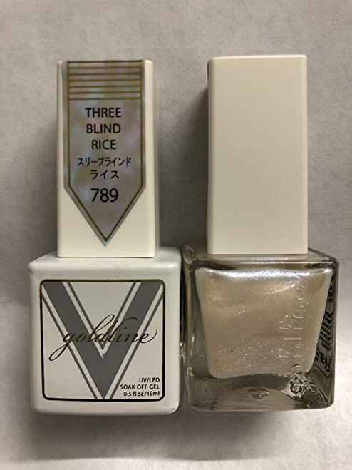 Gel Matching SOAK Off Gel & Nail Lacquer Three Blind Rice #789 by VETRO