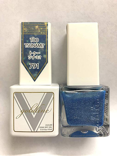 Gel Matching SOAK Off Gel & Nail Lacquer Too Tsunami #791 by VETRO