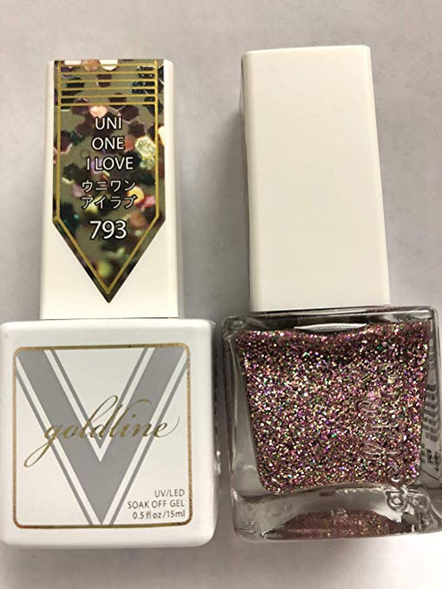 Gel Matching SOAK Off Gel & Nail Lacquer UNI ONE I Love #793 by VETRO
