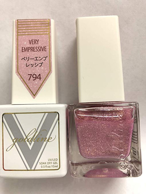 Gel Matching SOAK Off Gel & Nail Lacquer Very EMPRESSIVE #794 by VETRO