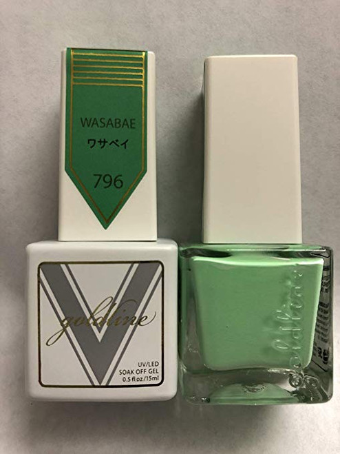 Gel Matching SOAK Off Gel & Nail Lacquer WASABAE #796 by VETRO