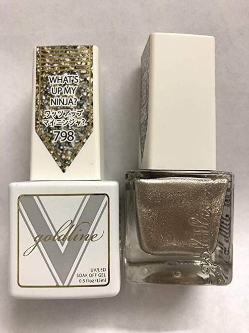 Gel Matching SOAK Off Gel & Nail Lacquer What's UP My Ninja #798 by vetro