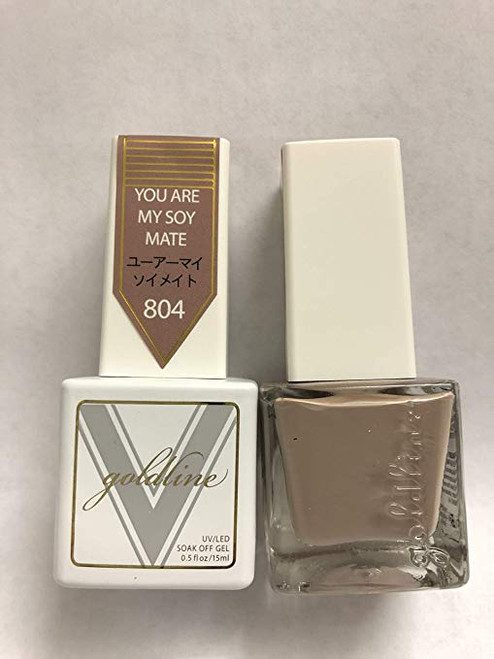 Gel Matching SOAK Off Gel & Nail Lacquer You are My Soy Mate #804 by VETRO