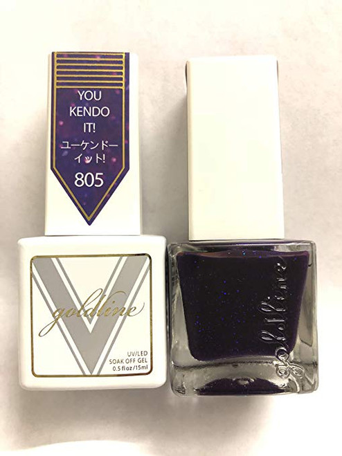 Gel Matching SOAK Off Gel & Nail Lacquer You Kendo IT #805 by VETRO