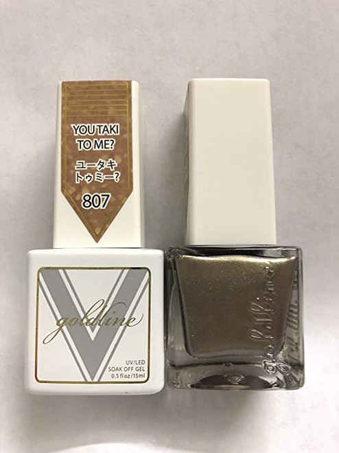 Gel Matching SOAK Off Gel & Nail Lacquer You Taki to ME #807 by VETRO