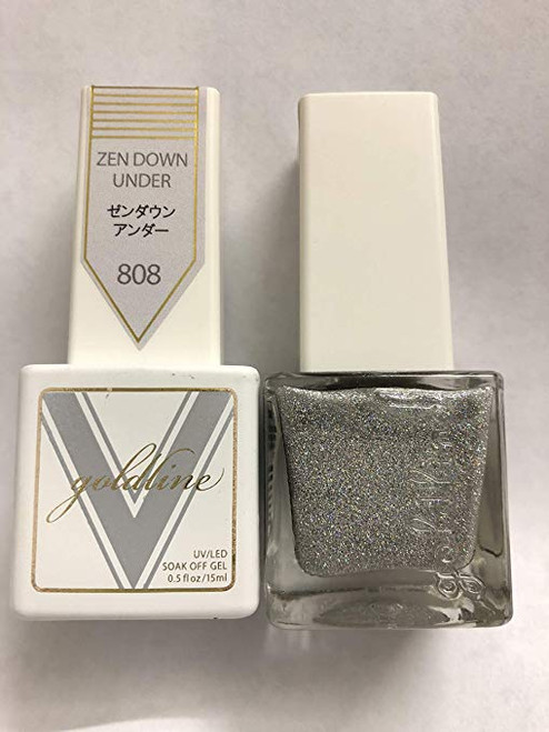 Gel Matching SOAK Off Gel & Nail Lacquer Zen Down Under #808 by VETRO