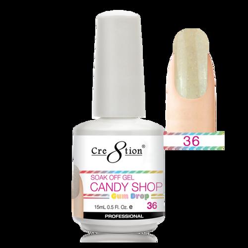 Cre8tion CANDY SHOP GUM DROP Soak Off Gel  .5 oz | 36