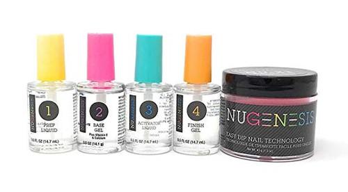 NUGENESIS Easy Nail Dip Starter Kit | NU 147 That's Bright Bright