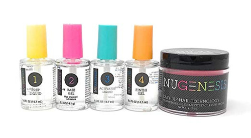 NUGENESIS Easy Nail Dip Starter Kit | NU 210 Electric Slide (Neon)