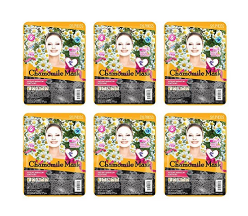 Sylphkiss Chamomile Face Mask (Pack of 6 Full Facial Mask)