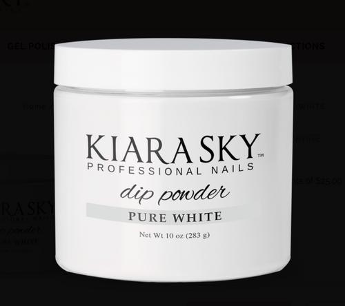 KIARA SKY 10 oz DIP POWDER - PURE WHITE