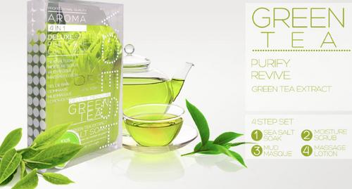 Voesh - Pedi in a Box 4-Step (Green Tea)