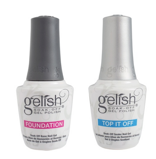 Gelish Top It Off and Foundation Duo
