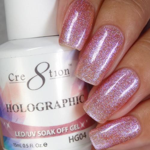 Cre8tion HOLOGRAPHIC SOAK OFF GEL .5 oz | HG04