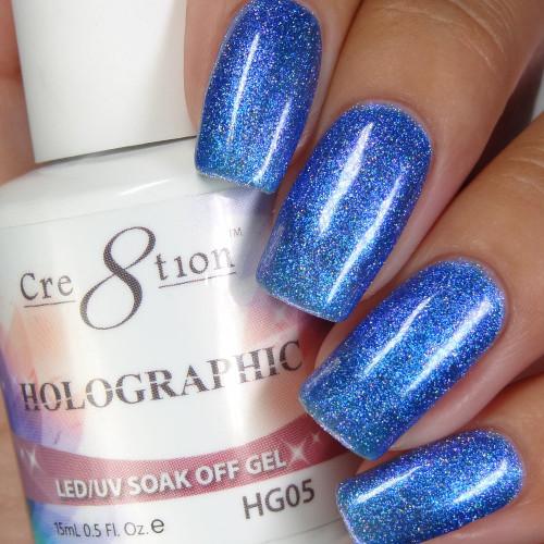 Cre8tion HOLOGRAPHIC SOAK OFF GEL .5 oz | HG05