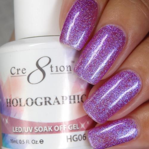 Cre8tion HOLOGRAPHIC SOAK OFF GEL .5 oz | HG06