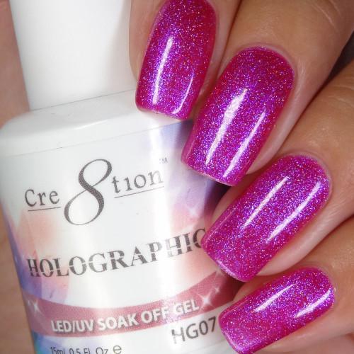 Cre8tion HOLOGRAPHIC SOAK OFF GEL .5 oz | HG07