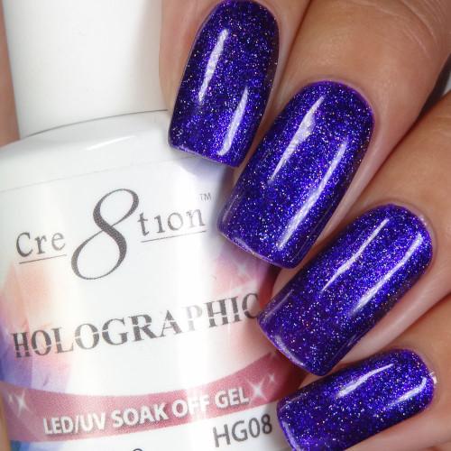 Cre8tion HOLOGRAPHIC SOAK OFF GEL .5 oz | HG08
