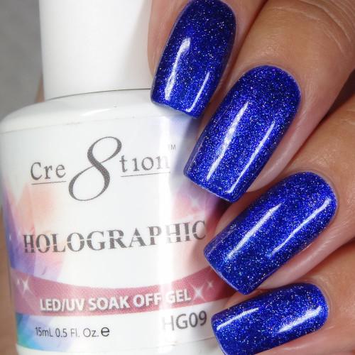 Cre8tion HOLOGRAPHIC SOAK OFF GEL .5 oz | HG09